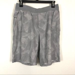 Lululemon Men's T.H.E. liner less gray shorts